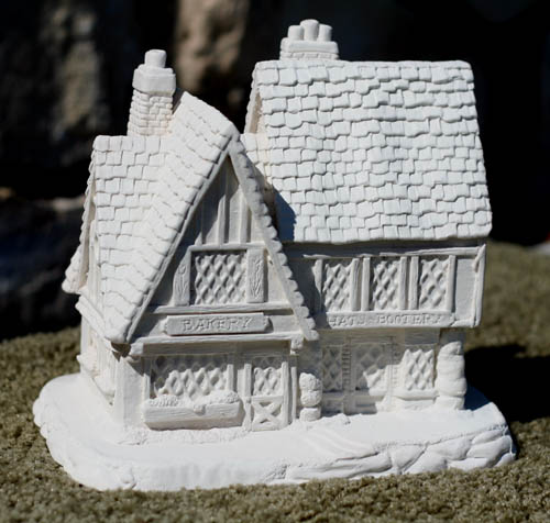 Small 2 Story Christmas House With Snow Base 12 95